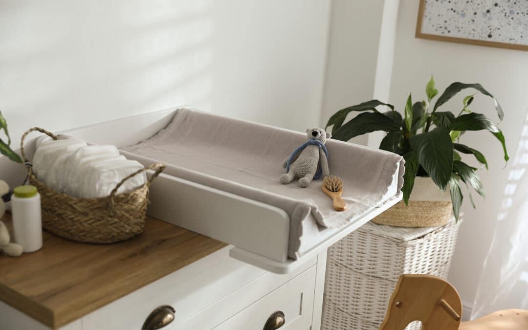 baby nursery featuring newborn essentials