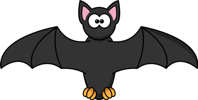 a cartoon image of a bat
