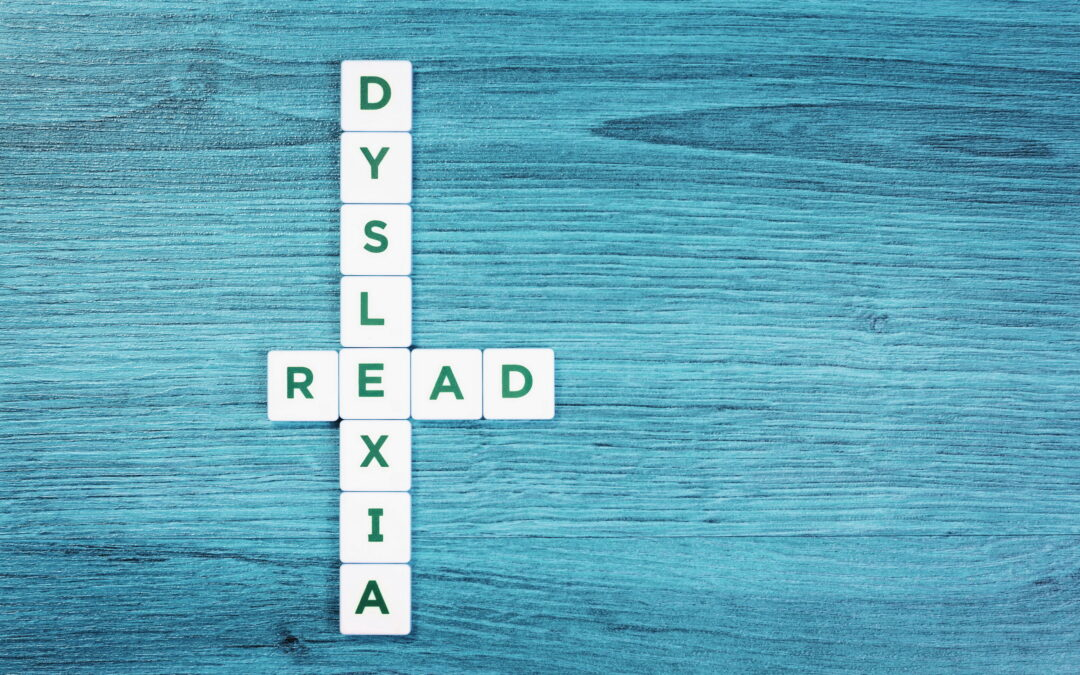 scrabble letters for children with dyslexia spelling out dyslexia and read