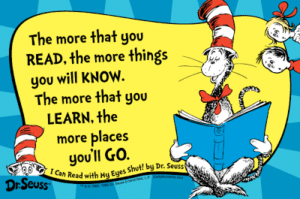 Dr Seuss quote to inspire those learning how to teach a child with dyslexia to read