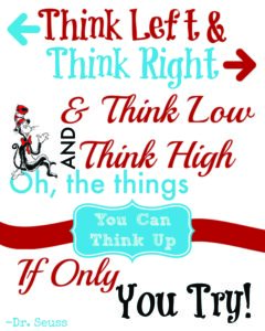 Dr seuss quote to help with the confidence with writing, spelling and dyslexia